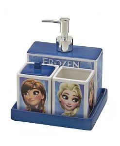 Jogo de Banheiro Frozen 4 Peças - Disney