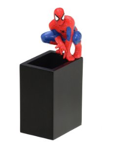 Porta Canetas Preto Homem Aranha - Marvel