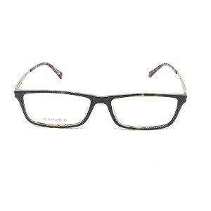 Óculos Receituário Prorider Retangular Animal Print com Dourado - 3016c02