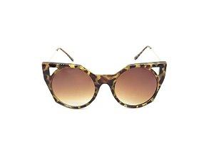 Óculos Solar Prorider Dourado com Animal Print e Lente Degrade - YD1834C2