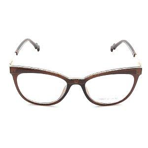 Óculos Receituário Prorider Marrom Translúcido com Dourado - ch5527
