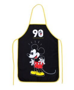 Avental Mickey 90 Anos Preto - Disney