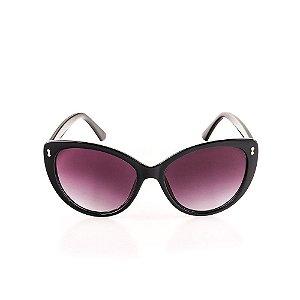 Óculos de Sol Voor Vert Preto Arredondado com Lente Degradê -  VVOCS20595