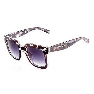 Óculos de Sol Voor Vert Animal Print Marrom com Translúcido Acinzentado - VVOCSFY82007C4