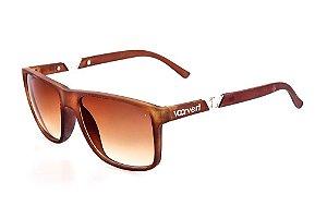 Óculos Voor Vert Marrom Fosco com Detalhe Prata - VVOCS1108
