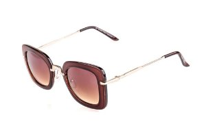 Óculos de Sol Voor Vert Marrom com Dourado - VVOCSBR5010C3