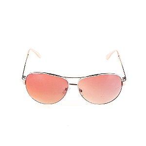 Óculos Solar Voor Vert Dourado com Bege - VVOCSD8045