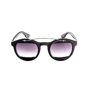 Óculos de Sol Voor Vert Preto com Dourado - VVOCSCJH72039C1