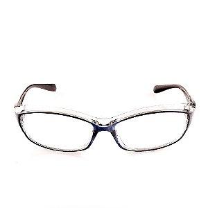 Óculos Receituário esportivo Voor Vert Translúcido Azul e Preto - VVOCRKG-400-1