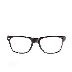 Óculos Receituário Voor Vert Preto e Branco - VVOCRY51