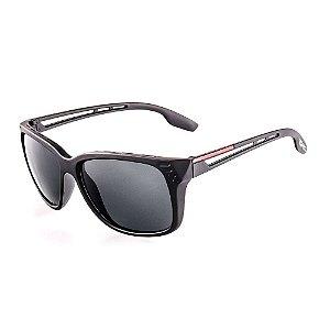 Óculos de Sol Voor Vert Preto Fosco com Detalhe Vermelho - VVOCS20684
