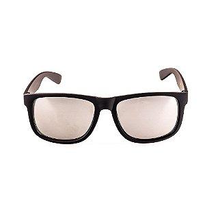 Óculos de Sol Voor Vert Preto Fosco com Lente Espelhada Prata - VVOCS25247-2