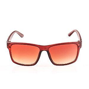Óculos Solar Voor Vert Marrom Fosco com Detalhe em Grafite - VVOCS25248-2