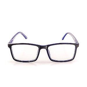 Óculos Receituário Voor Vert Preto e Azul - VVOCRGP036