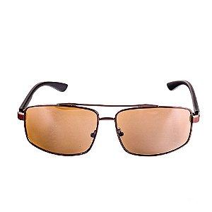 Óculos Solar Voor Vert Marrom com Preto Fosco - VVOCSHT3594C2