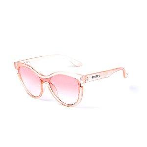 Óculos de Sol OTTO - Rosa Translúcido com Lente Degradê