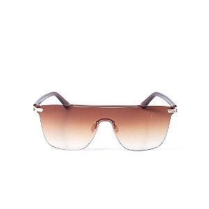 Óculos de Sol Otto Quadrado Translúcido Com Lente Degrade Marrom