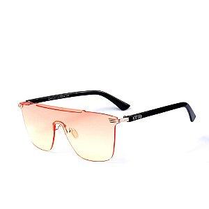 Óculos de Sol OTTO - Preto com Lente Degradê Rosa e Amarelo