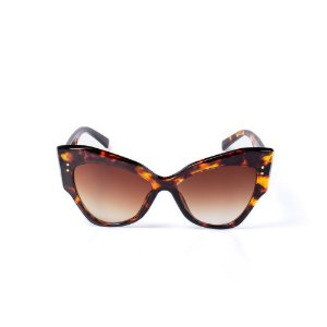 Óculos de Sol OTTO - Gatinho em Animal Print Marrom