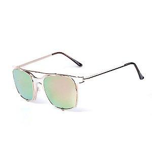 Óculos de Sol OTTO - Dourado com Lente Espelhada Colors