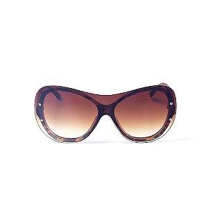 Óculos de Sol OTTO - Animal Print Marrom Redondo