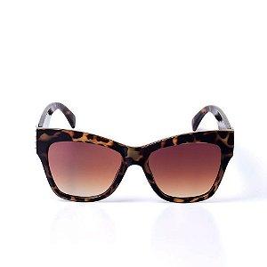 Óculos de Sol OTTO - Animal Print Dourado