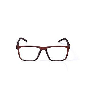 Óculos Receituário Otto - Marrom Fosco