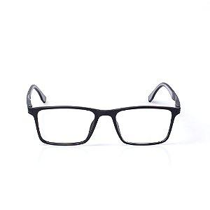 Óculos Receituário Otto - Preto e Cinza Fosco