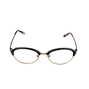 Óculos Receituário Titania Preto com Dourado