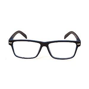 Óculos Receituário Titania Preto Fosco e Azul Fosco
