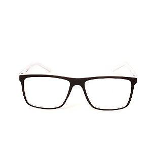 Óculos Receituário Titania Preto e Branco Fosco