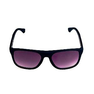 Óculos de Sol Titânia Quadrado Preto com Lente Degrade