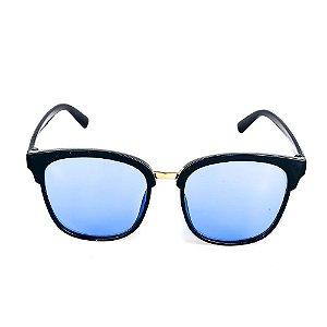 Óculos de Sol Titania Preto Lente Azul
