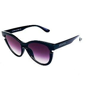 Óculos de Sol Titania Gatinho Preto com Lente Degrade