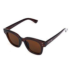Óculos de Sol Titânia Quadrado Marrom