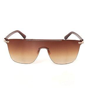 Óculos de Sol Titania Marrom com Detalhes em Dourado e Lente Degradê