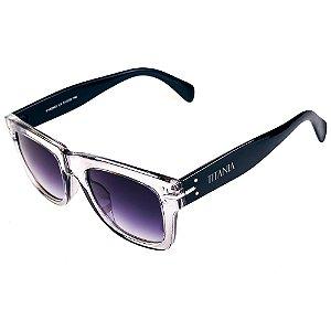 Óculos de Sol Titania Translúcido Acizentado com Preto