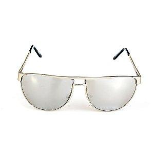 Óculos de Sol Titania Prata Com Lente Espelhada Prata