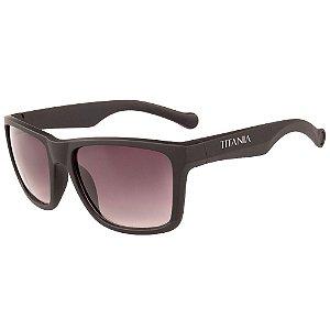 Óculos de Sol TITÂNIA Marrom Fosco com Lente Degradê