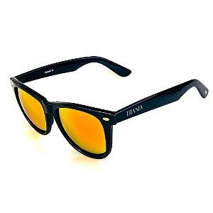 Óculos de Sol Titania Preto com Lente Espelhada Collors