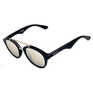 Óculos de Sol Titania Preto Fosco com Detalhes em Dourado