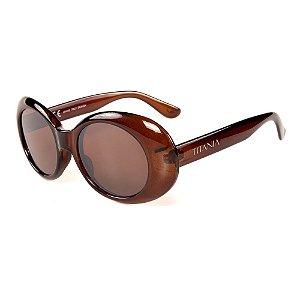 Óculos de Sol Titania Redondo Marrom