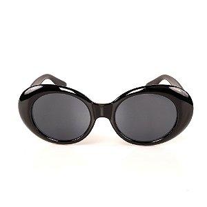 Óculos de Sol Titania Redondo Preto Brilhante