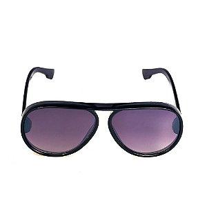 Óculos de Sol Titania Redondo Preto com Lente Degradê