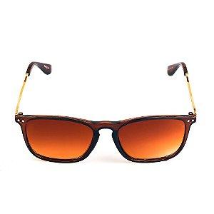 Óculos de Sol Titania Marrom e Dourado com Lente Degradê