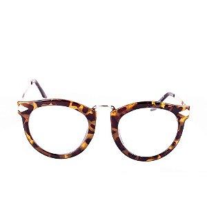 Óculos Solar Conbelive Animal Print e Dourado