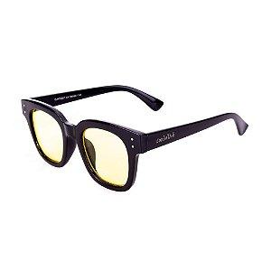 Óculos Conbelive Quadrado Preto com Lente Amarela