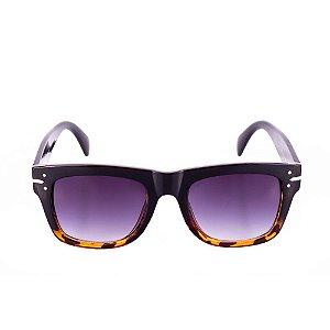 Óculos de Sol Conbelive Quadrado Preto com Tartaruga