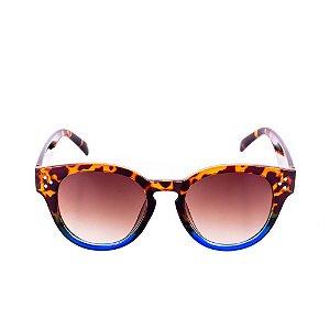Óculos de Sol Conbelive Redondo Tartaruga com Azul