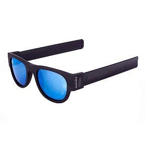Óculos de Sol Conbelive Esportivo Flexivel Preto Lente Espelhada
